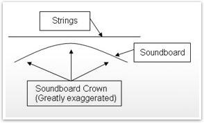 Soundboard crown