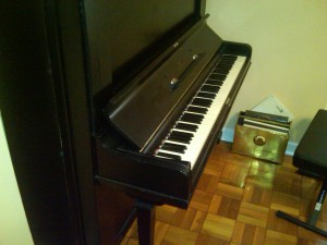 Steinway Upright FS Side View