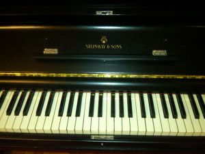 Steinway Upright FS Nameboard